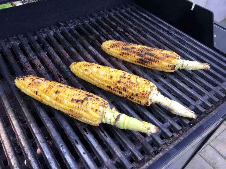 Grilling ears of corn
