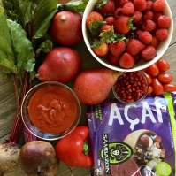 Photo of assorted red produce