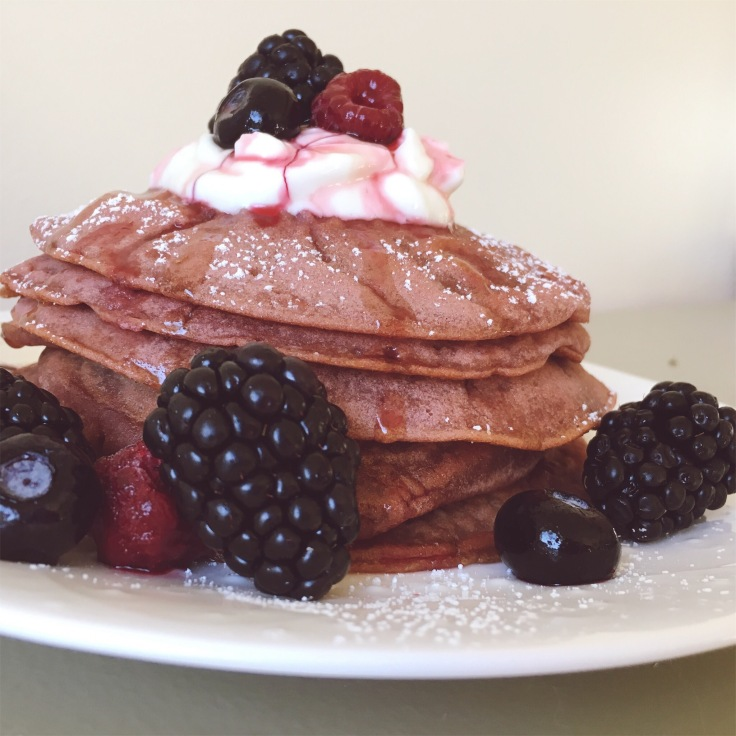 Photo of pancakes with berries