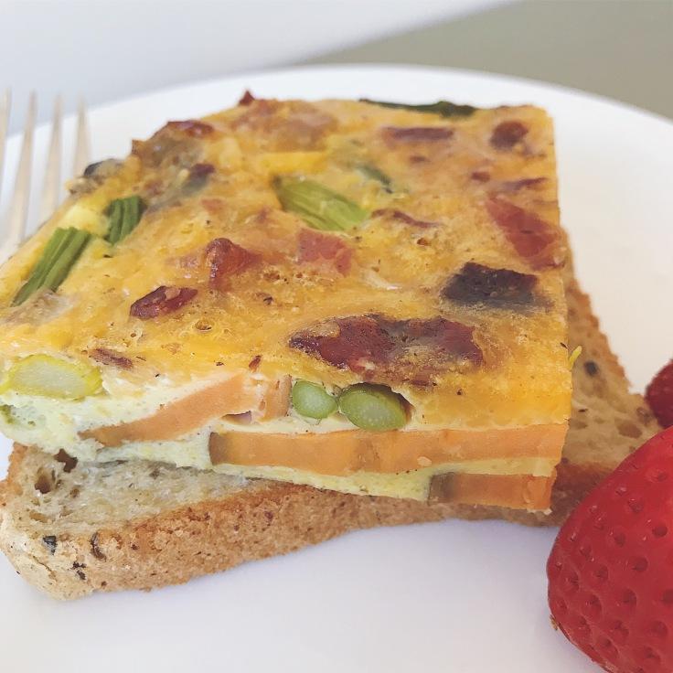 photo of egg bake on toast