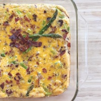 Sweet Potato & Asparagus Egg Bake (plus, bacon!)
